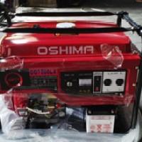 genset HONDA OSHIMA 7500LX 5000watt stater elektrik, roda ,accu,baru