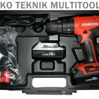 Mesin Bor Baterai Maktec / Cordless Driver Drill MT081e / MT 081e