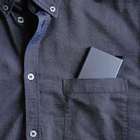 Dompet Smart Wallet - Credit Card Holder Metal Case RFID