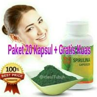 Masker Wajah Spirulina tiens herbal alami