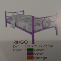 Ranjang Besi Single Bed Ring O Ranjang Murah Kuat Metal Bed Orbitrend