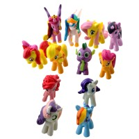 Set My Little Pony Action Figure / Pajangan mainan kuda 4 cm 12 pcs