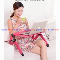 Meja Laptop Portable with Cooler Big Fan