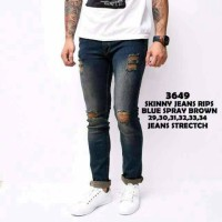 Jual celana sobek jeans skinny bluespray Murah
