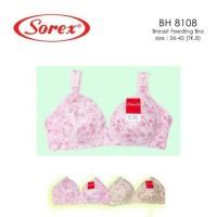 bh bra menyusui sorex motif bunga kancing bukaan depan 8108 nursing