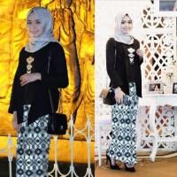 KEBAYA RISA BLACK / Grosir Baju Muslim / Baju Gamis / Baju Murah