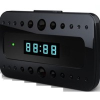 HD1080 Wifi/AP IP Network Spy Desk Clock Camera supports Android/IOS
