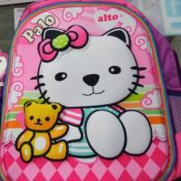 Tas sekolah Anak AlTO hello kitty 3D Palo jamin asli original