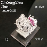 cincin emas putih hello kitty