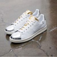 Sepatu Kets Adidas Stan Smith KETS SHOES ADIDAS REPLICA SILVER GOLD DT