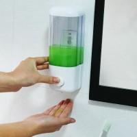 D1 Dispenser Sabun Single Dilengkapi Baut, Kuat Gak Mudah Jatuh / Tumpah