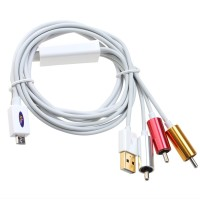 MHL Micro USB To RCA HDTV Adapter AV Cable