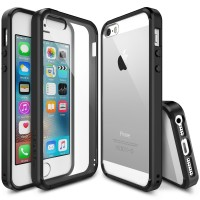 REARTH Ringke [FUSION] iPhone SE / 5S / 5 Case - Crystal Clear , Black