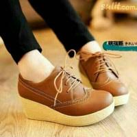 Harga sepatu yy02 wedges wanita yy 02 boots heels leather sintetis   WIKIPRICE INDONESIA
