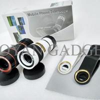 Lensa Tele Zoom 8x Universal Telescope Clip Jepit Mobile Phone M FWHB