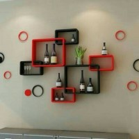 Floating shelf / rak dinding minimalis (6 pcs )