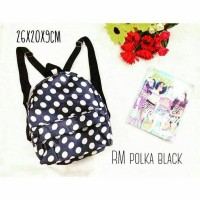 tas dotty polkadot ransel mini bag import korea tumblr murah