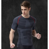 Premium Man Compression Shirt Baju Base Layer Stretch Rash Guard Pria