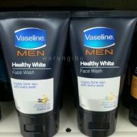 Sabun Pembersih Kulit Wajah Vaseline Men Healthy White Face Wash