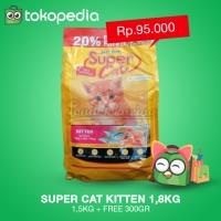 harga Makanan Kucing - Supercat For Kitten 1,8kg (1,5kg + Free 300gr) Tokopedia.com