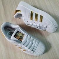 Sepatu Adidas Superstar Putih Gold Vietnam Cowok Man Pria 36-44