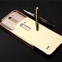 LG G3 Stylus Metal Bumper Mirror Hard Back Cover Casing Case Cermin