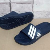 Sandal Sport, Slop, Jepit, Flat, Olahraga, Sandal Adidas Climacool Navy