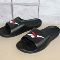 Sandal Sport / Slop / Jepit / Flat / Olahraga / Distro / Sandal Reebok Kobo Hitam
