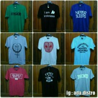 T-Shirt / Baju Kaos Distro Pria Termurah (3seconds, greenlight dll)