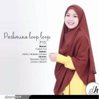 Jilbab Pashmina Instant Coklat Tua by Dinnary Hijab