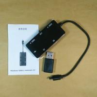 OTG Micro USB Card Reader & 2 USB Hub With Micro USB To USB Adapter