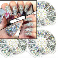 Nail Art - Crystal Glitter Rhinestone 3D Nail Art