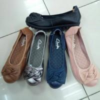 Sepatu clarks flatshoes flat shoes ulir premium high quality