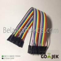 Female to Female dupont cable jumper / Kabel Breadboard 20 cm - 20pcs