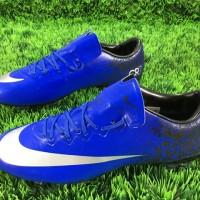 sepatu soccer / sepak bola nike vapor x biru diamond grade ori import