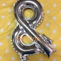 Balon foil huruf simbol & /huruf dan