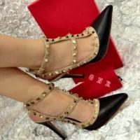 Sepatu Heels Valentino 2 Warna / High Heels Paris Berkualitas