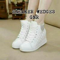 harga Sepatu cewek Kets sneakers high wanita hidden wedges 5cm Tokopedia.com