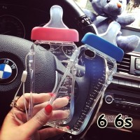 FOR IPHONE 6 6S -SOFT JELLY CASE CUTE BOTTLE MILK BABY BOTOL DOT 6 6S