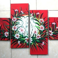 Jual Lukisan Bunga Merah Murah