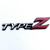 Emblem Honda City Type Z Hitam-Crome