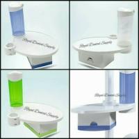 Side Table + Tissue Box + Cup Holder (untuk pasang di dental unit)