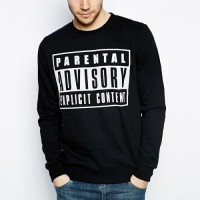 SWEATER BLACK PARENTAL ADVISORY