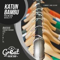 Jual Kaos Polos Katun Bambu (Cotton Bamboo) Tangan Pendek Murah