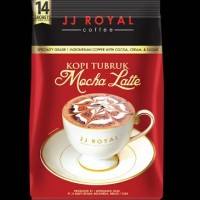 JJ Royal Coffee Kopi Tubruk Mocha Latte 14 sachets
