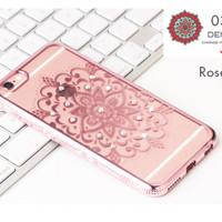 iphone 5 / 5s / SE softcase casing bening transparan bohemian permata