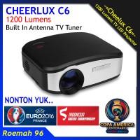 Projector Cheerlux C6 TV Tuner | Mini Proyektor | Infocus Nobar Bola
