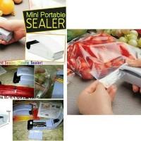 Jual MINI PORTABLE HAND SEALER PENYEGEL PEREKAT PLASTIK BKN VACUUM FOOD Murah
