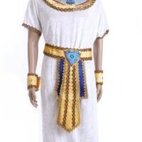 Jual Cosplay Halloween Costume Kostum Pria Dewasa Raja Mesir Warna Putih Murah