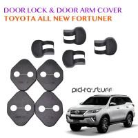 Door Lock Cover dan Door Arm Cover Mobil Toyota All New Fortuner 2016